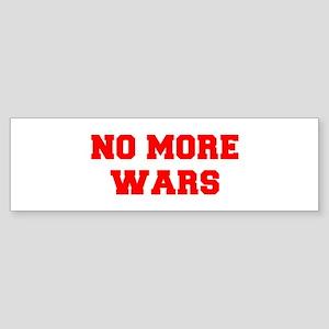 NO-MORE-WARS-FRESH-RED Bumper Sticker