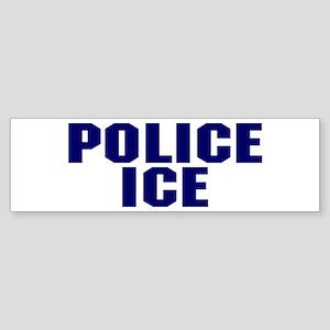 Police ICE Bumper Sticker