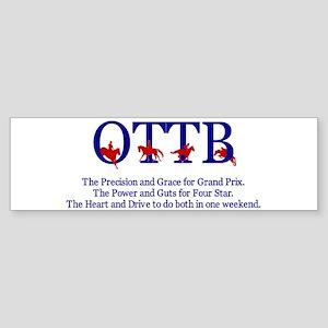 Save an OTTB Bumper Sticker