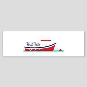 First mate Bumper Sticker
