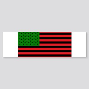 African American Flag - Red Black a Bumper Sticker