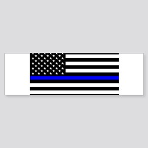 Blue Lives Matter US Flag Police Th Bumper Sticker