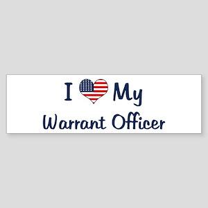 Warrant Officer: Flag Love Bumper Sticker