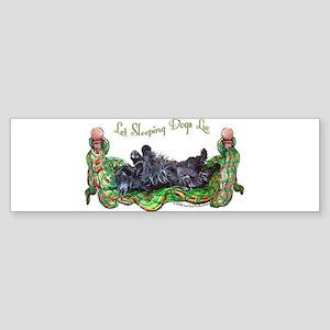 Sleeping Scottie Sticker (Bumper)