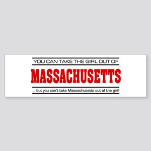 'Girl From Massachusetts' Sticker (Bumper)