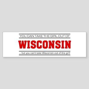 'Girl From Wisconsin' Sticker (Bumper)