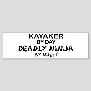 Kayaker Deadly Ninja Bumper Sticker