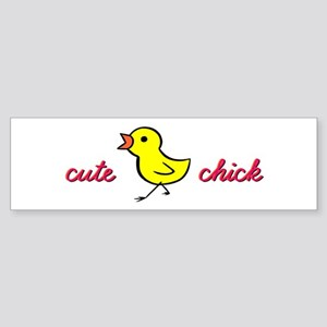 Cute Chick Bumper Sticker