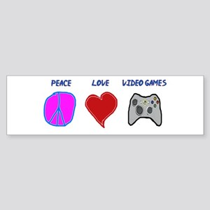 Peace love video games Bumper Sticker