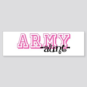 Army Aunt - Jersey Style Bumper Sticker