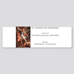 st. michael the archangel Bumper Sticker