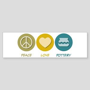Peace Love Pottery Bumper Sticker