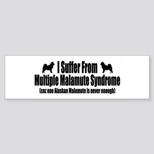 Alaskan Malamute Sticker (Bumper)