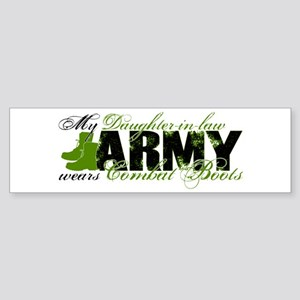 Daughter Law Combat Boots - ARMY Sticker (Bumper)