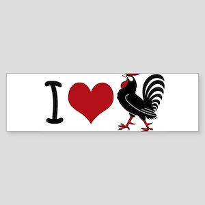 I Heart Cock Sticker (Bumper)
