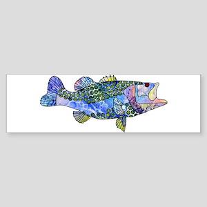 Wild Bass Bumper Sticker