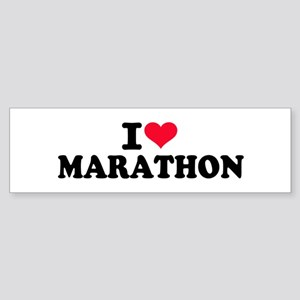 I love Marathon Sticker (Bumper)