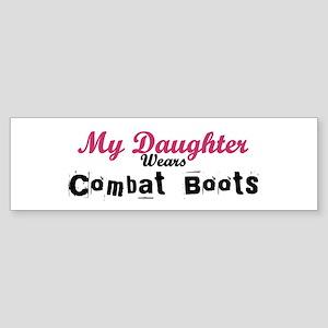 My Daughter Wears Combat Boot Bumper Sticker