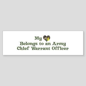My Heart: Chief Warrant Offic Bumper Sticker