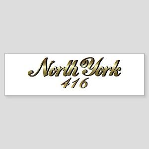 North York 416 area code Bumper Sticker