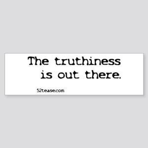 Stephen Colbert Truthiness/X-files Sticker (Bumper