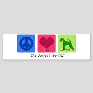 Peace Love Airedale Bumper Sticker