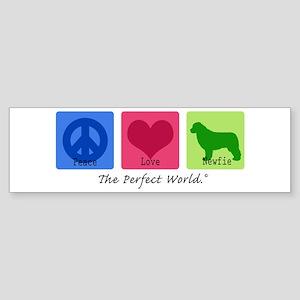 Peace Love Newfie Bumper Sticker