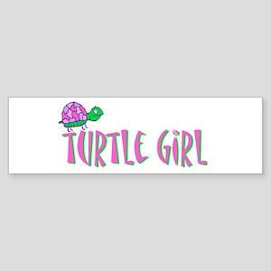Turtle Girl Bumper Sticker