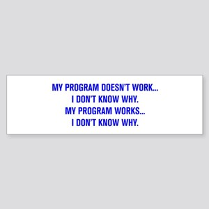 MY PROGRAM DOESN'T WORK I DON'T KNOW WHY Bumper St