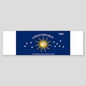 Conch Republic Plate Bumper Sticker