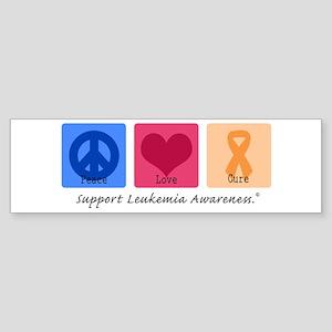 Peace Love Cure Leukemia Bumper Sticker