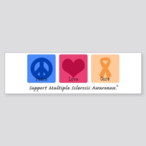 Peace Love Cure MS Bumper Sticker