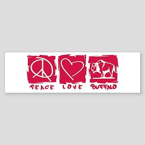 Peace.Love.Buffalo Sticker (Bumper)
