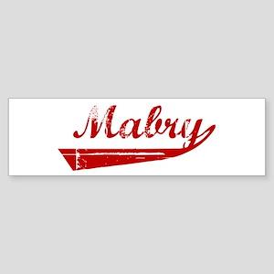 Mabry (red vintage) Bumper Sticker