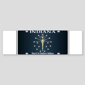 Indiana Flag License Plate Bumper Sticker