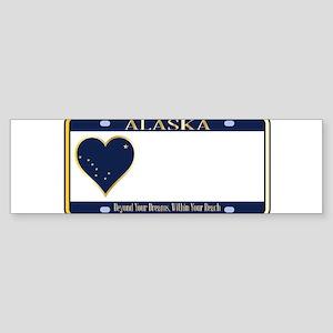 Alaska State License Plate Bumper Sticker