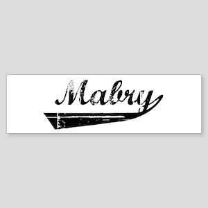 Mabry (vintage) Bumper Sticker