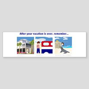 American Vacation Bumper Sticker