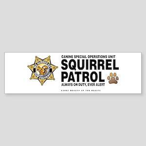 Squirrel Patrol Bumper Sticker
