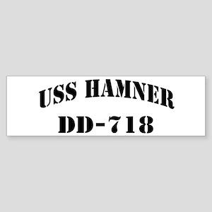 USS HAMNER Sticker (Bumper)