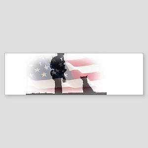Soldier and shepard Bumper Sticker