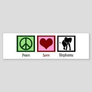 Peace Love Elephants Sticker (Bumper)