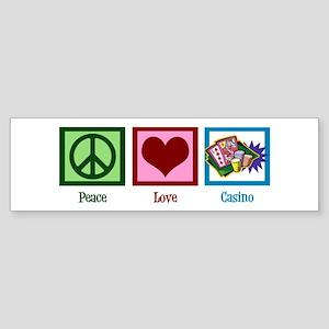 Peace Love Casinos Sticker (Bumper)