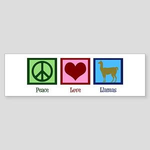 Peace Love Llamas Sticker (Bumper)