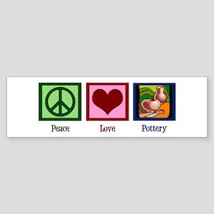 Peace Love Pottery Sticker (Bumper)