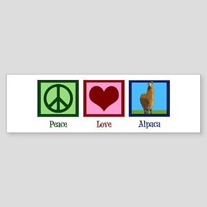 Peace Love Alpacas Sticker (Bumper)
