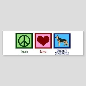 Peace Love German Shepherds Sticker (Bumper)