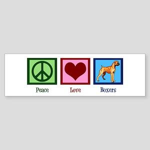 Peace Love Boxer Dog Sticker (Bumper)