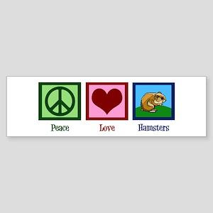 Peace Love Hamsters Sticker (Bumper)