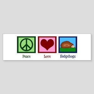 Peace Love Hedgehogs Sticker (Bumper)